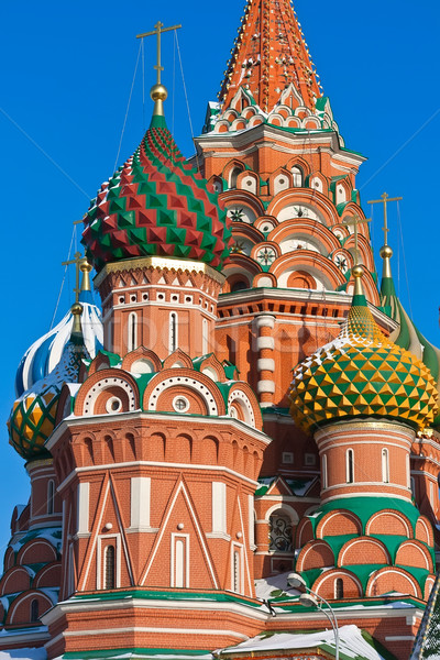 Manjericão catedral Moscou Praça Vermelha Kremlin Foto stock © sailorr