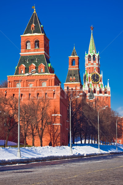 Red square and Kremlin Stock photo © sailorr