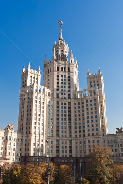 Kotelnicheskaya Embankment Building Stock photo © sailorr