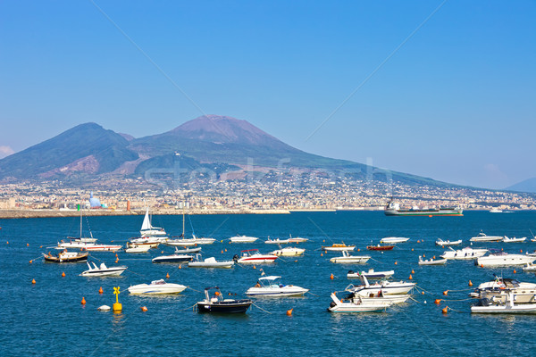 Foto stock: Nápoles · panorâmico · ver · água · edifício · cidade