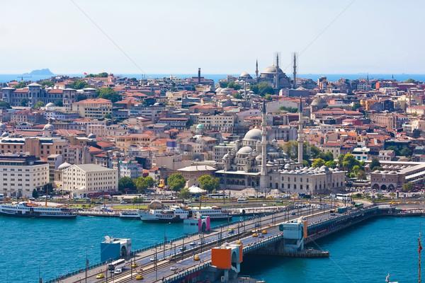 ホーン イスタンブール 橋 トルコ 空 ストックフォト © sailorr