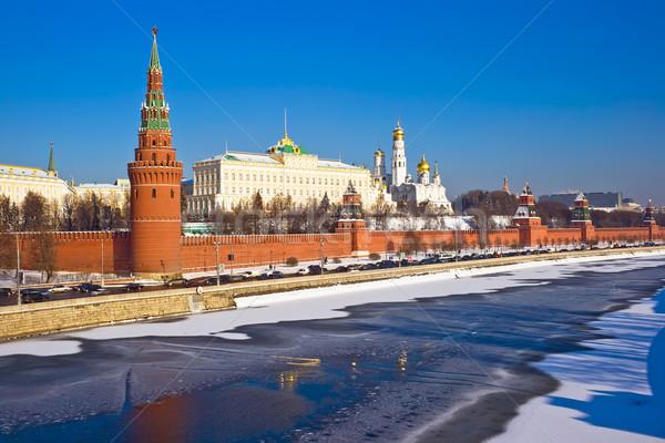 Москва Кремль зима мнение моста здании Сток-фото © sailorr