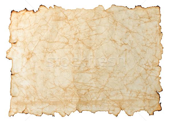 Papier oud papier geïsoleerd witte kaart achtergrond Stockfoto © sailorr