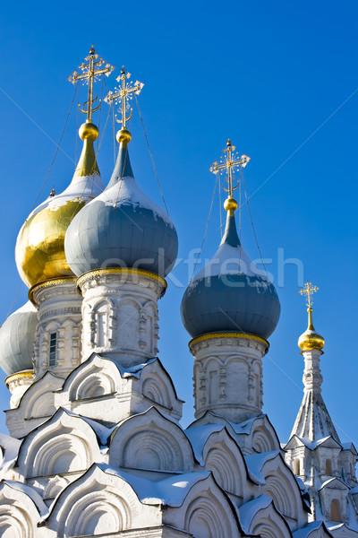 Ortodoxo iglesia dorado cielo diseno cruz Foto stock © sailorr