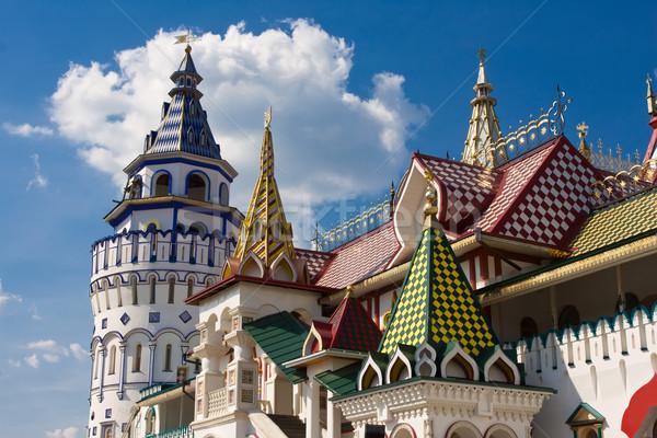 クレムリン 美しい モスクワ ロシア 壁 青 ストックフォト © sailorr