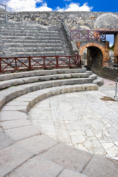 Small amphitheater in Pompeii Stock photo © sailorr