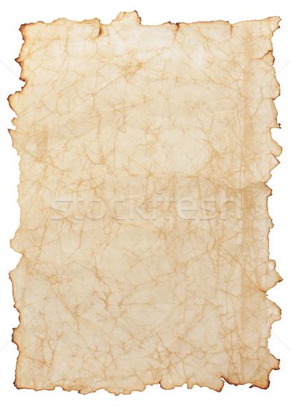 Papier oud papier geïsoleerd witte textuur Stockfoto © sailorr