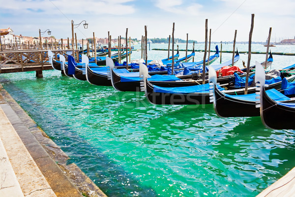 Gondola boats in Venice Stock photo © sailorr