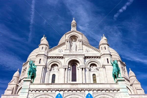 Сток-фото: Париж · базилика · Монмартр · Франция · город · поклонения