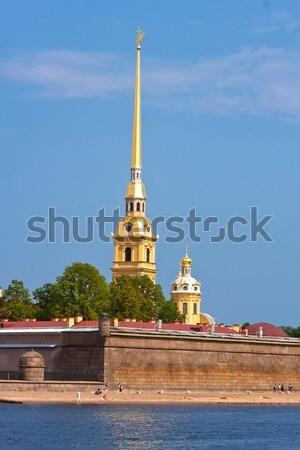 крепость святой небе город закат Церкви Сток-фото © sailorr