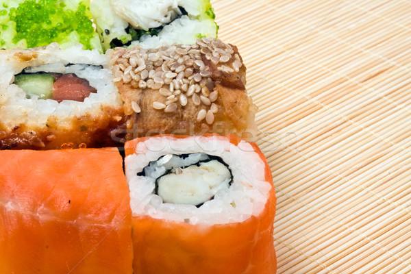 Sushi tradicional comida japonesa comida peixe Foto stock © sailorr