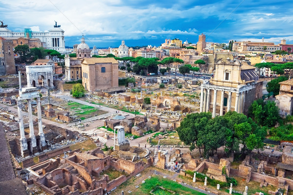 Ancient Forum in Rome Stock photo © sailorr