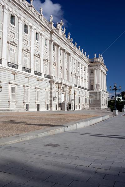 Królewski pałac Madryt piękna widoku słynny Zdjęcia stock © sailorr
