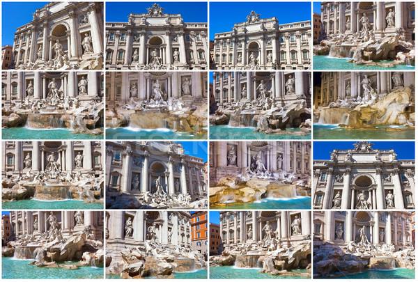 Сток-фото: фонтан · Фонтан · Треви · известный · Рим · Италия · небе
