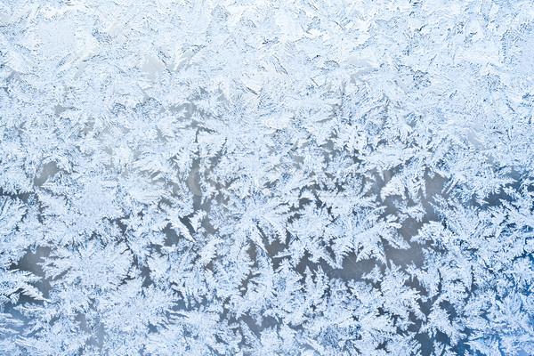 Gelo pattern bella inverno finestra luce Foto d'archivio © sailorr