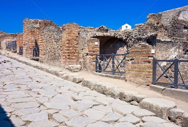 антикварная римской каменные улице руин стены Сток-фото © sailorr