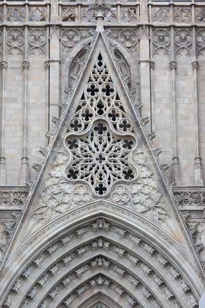 Gothic Cathedral in Barcelona Stock photo © sailorr
