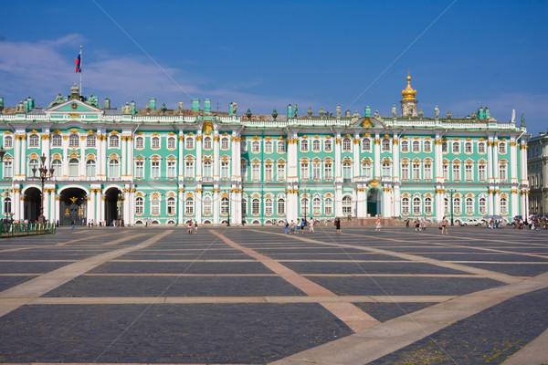 Museo invierno palacio ruso cielo Foto stock © sailorr