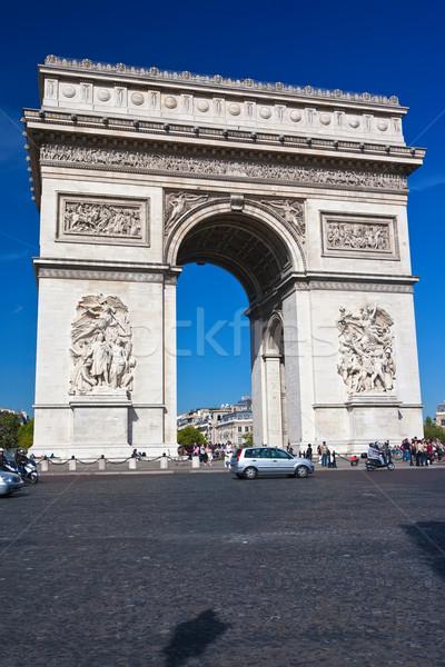 Foto d'archivio: Arc · de · Triomphe · noto · Parigi · Francia · costruzione · costruzione