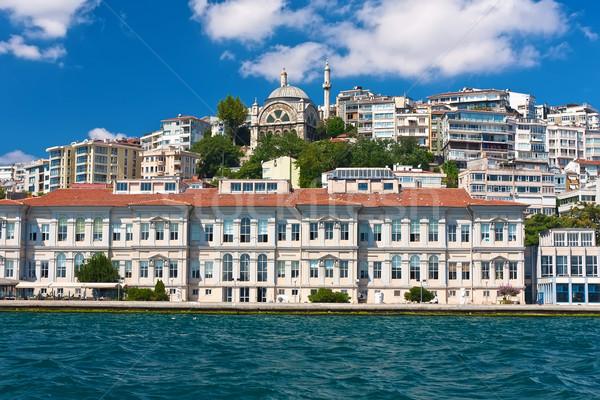 İstanbul görmek gökyüzü deniz köprü kentsel Stok fotoğraf © sailorr