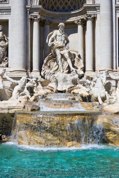 Trevi Çeşmesi güzel gezi Roma İtalya gökyüzü Stok fotoğraf © sailorr