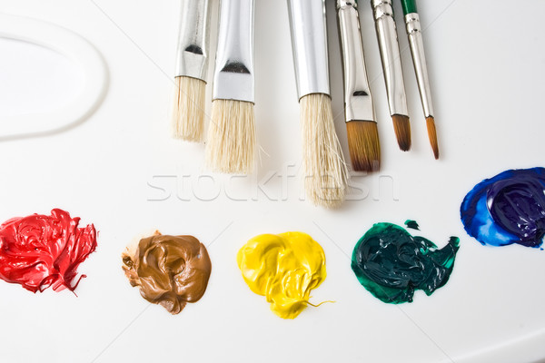 Artiste outils peinture travaux design art Photo stock © sailorr