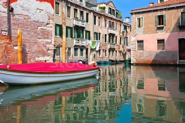 Венеция мнение красивой красочный венецианский канал Сток-фото © sailorr