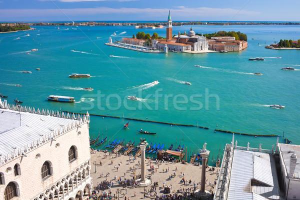 Venecia famoso iglesia Italia paisaje mar Foto stock © sailorr