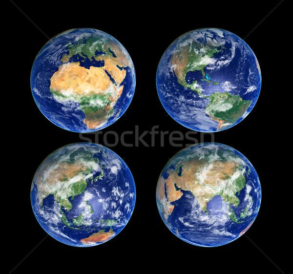 Four Globes Stock photo © sailorr
