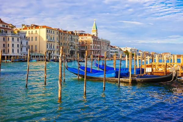 Velence gyönyörű kilátás híres velencei Olaszország Stock fotó © sailorr