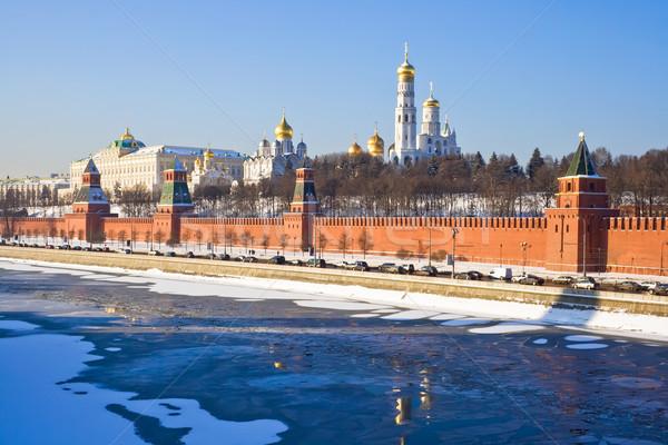 Москва Кремль собора здании стены крест Сток-фото © sailorr