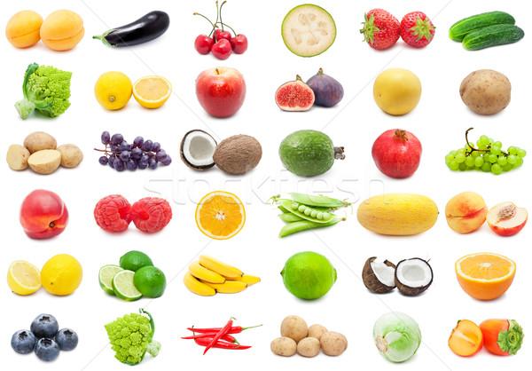 Vruchten groenten collectie geïsoleerd witte Stockfoto © sailorr