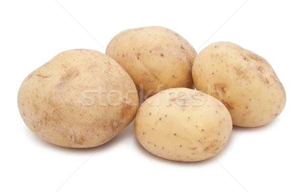 картофель новых свежие изолированный белый продовольствие Сток-фото © sailorr