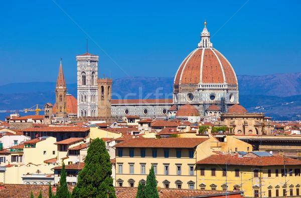 Florence cityscape igreja urbano linha do horizonte Foto stock © sailorr