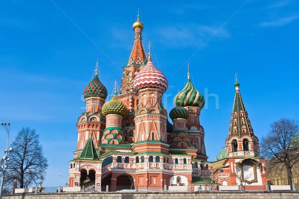 バジル 大聖堂 モスクワ 赤の広場 クレムリン ストックフォト © sailorr