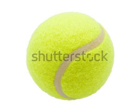 Teniszlabda szép izolált fehér zöld tenisz Stock fotó © sailorr