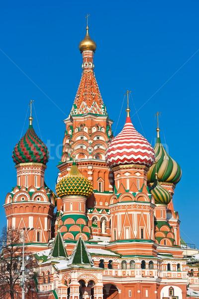 Foto stock: Manjericão · catedral · Moscou · Praça · Vermelha · Kremlin