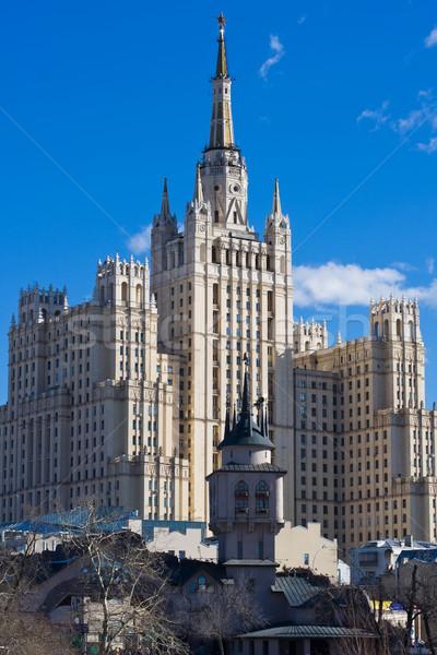 Soviet skyscraper Stock photo © sailorr