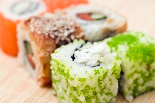 Sushis traditionnel alimentaire poissons Photo stock © sailorr