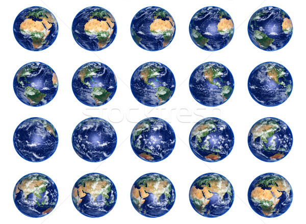 Earth Globes collection Stock photo © sailorr