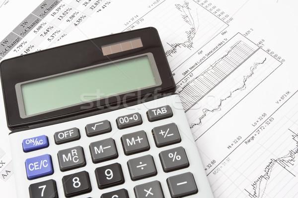 Calculadora primer plano foto negocios objetos diagramas Foto stock © sailorr