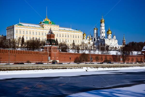 Foto stock: Moscou · Kremlin · vermelho · tijolo · paredes · famoso