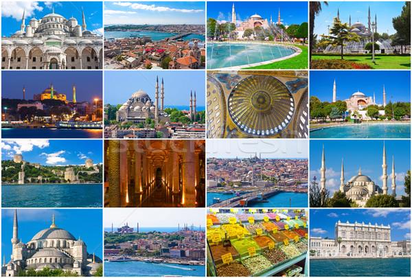 Стамбуле коллекция красивой фотографий Турция моста Сток-фото © sailorr
