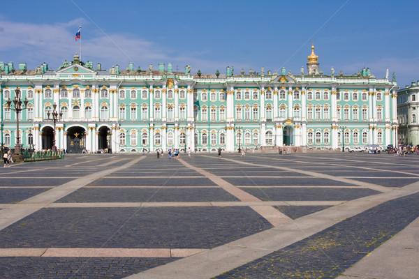 Saint musée hiver palais ciel Photo stock © sailorr