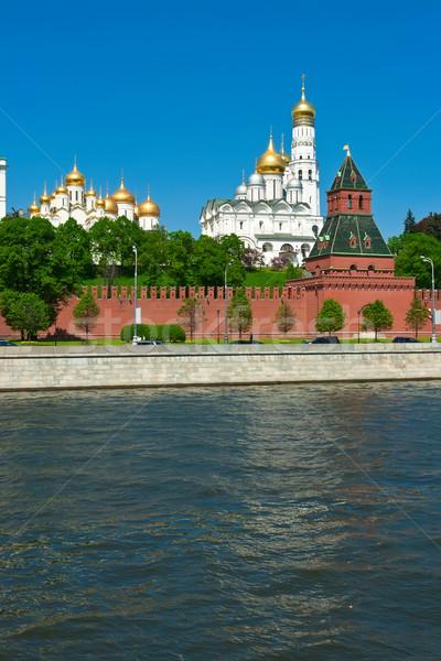 Moskova Kremlin güzel görmek nehir Rusya Stok fotoğraf © sailorr