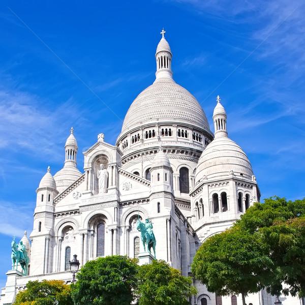 Paris bazilika montmartre Fransa şehir kalp Stok fotoğraf © sailorr