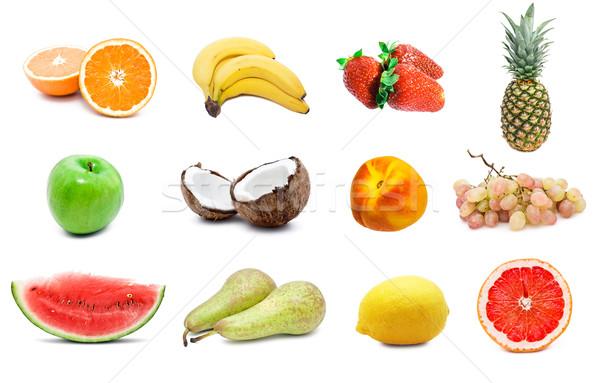 Gyümölcsök nagy gyűjtemény magas döntés víz Stock fotó © sailorr