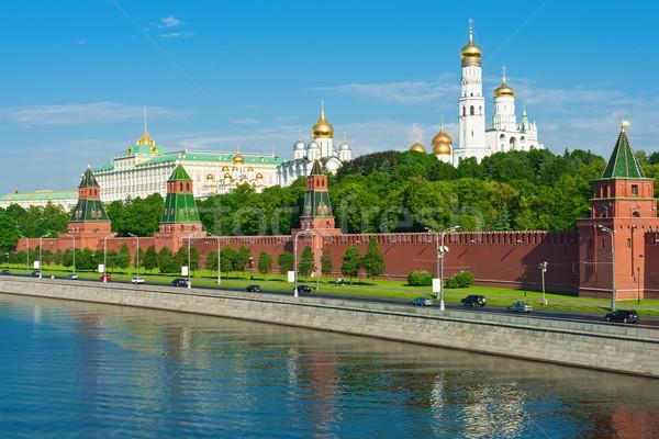 Mosca Cremlino bella view fiume Russia Foto d'archivio © sailorr