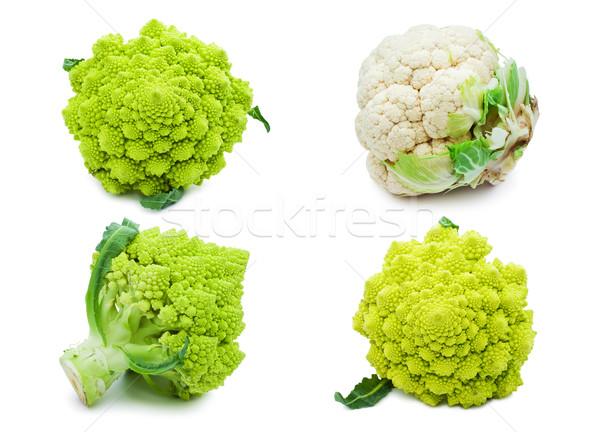Couve-flor brócolis coleção isolado branco comida Foto stock © sailorr