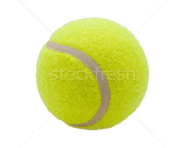 Piłka tenisowa nice odizolowany biały sportu tle Zdjęcia stock © sailorr